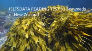 IELTSDATA READING TEST 31 Seaweeds оf Nеw Zealand