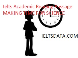 Ielts Academic Reading Passage MAKING TIME FOR SCIENCE
