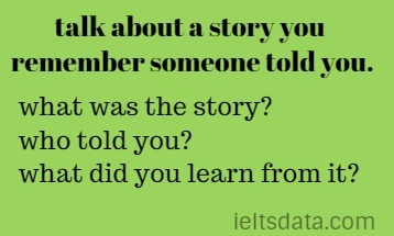 talk about a story you remember someone told you