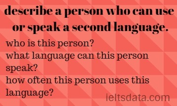 describe a person who can use or speak a second language.