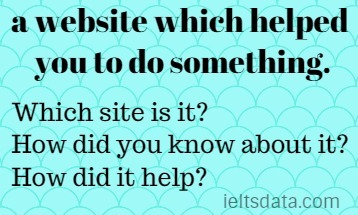a website which helped you to do something.