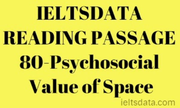 IELTSDATA READING PASSAGE 80-Psychosocial Value of Space