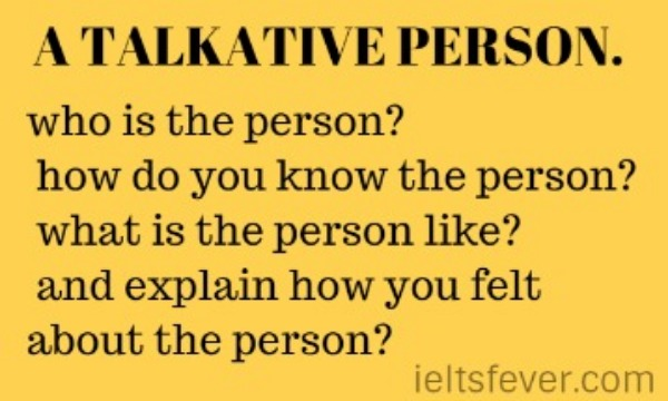 A TALKATIVE PERSON.