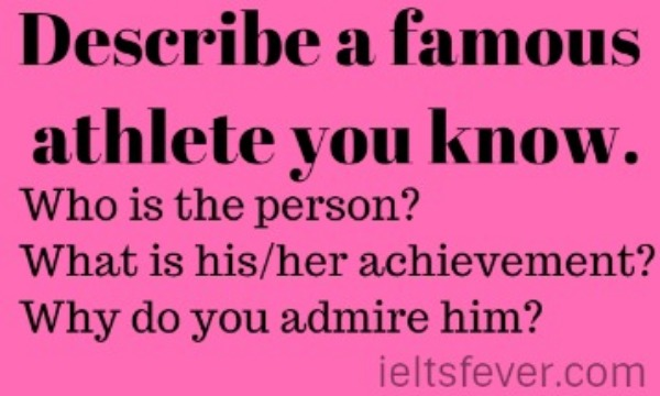 Describe a famous athlete you know.