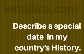 Describe a special date in my country's History.