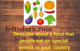 Describe about a food that people eat on special events in your country