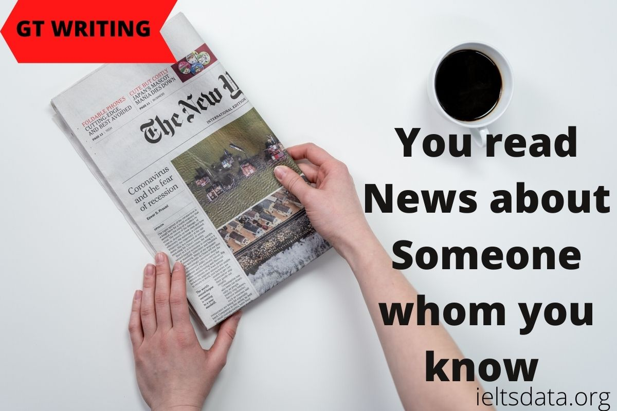 You read news about someone whom you know personally. you found some information is wrong