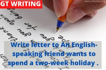 Write a letter to your English-speaking friend who wants to spend a two-week holiday