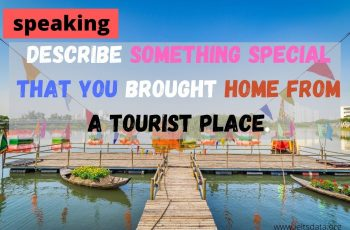 Describe something special that you brought home from a tourist place. (2)