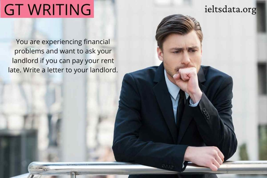 You are experiencing financial problems and want to ask