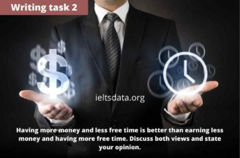Having more money and less free time is better than earning less money and having more free time. people