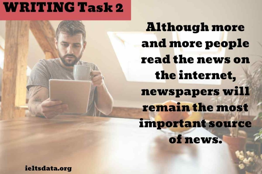 Although more and more people read the news on the internet