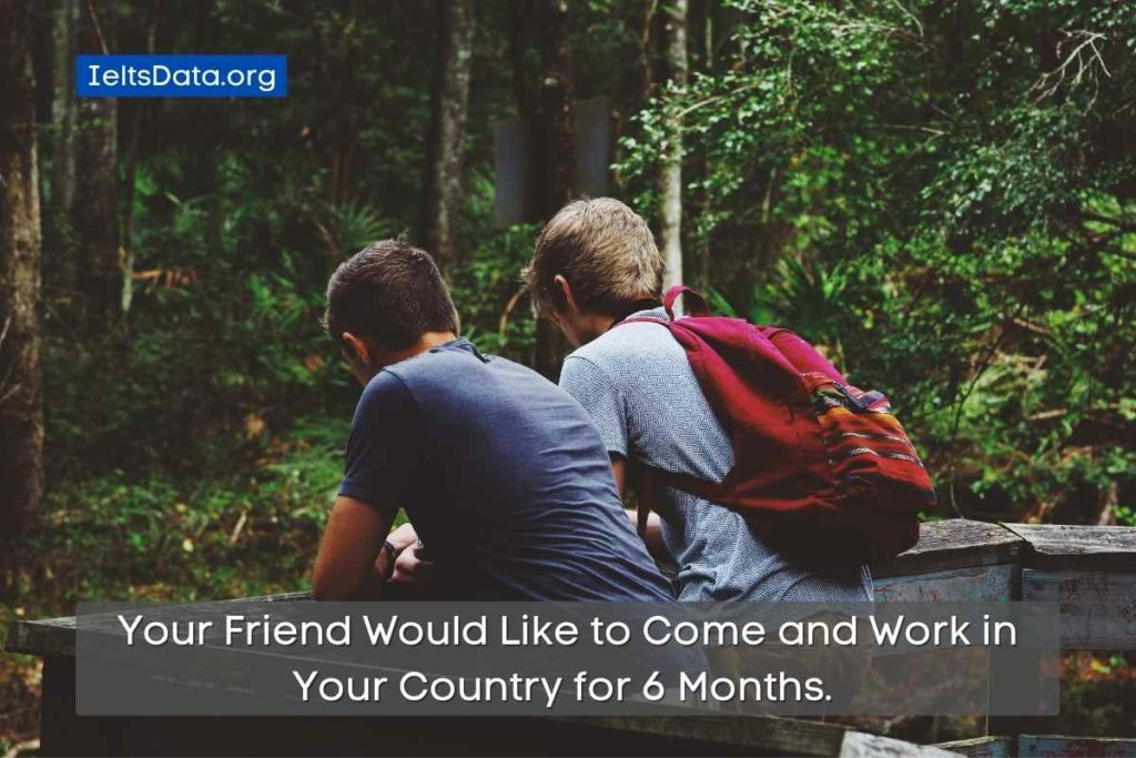 Your Friend Would Like to Come and Work in Your Country for 6 Months.
